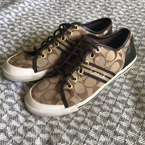 Coach logo sneakers in great condition